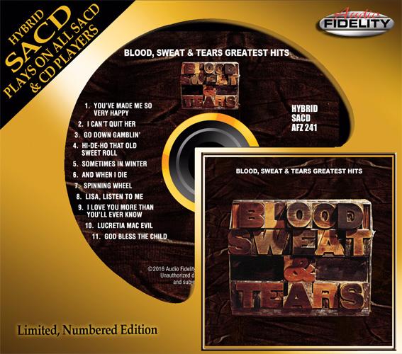 Blood, Sweat & Tears: Greatest Hits - Audio Fidelity Hybrid Stereo SACD (AFZ 241)