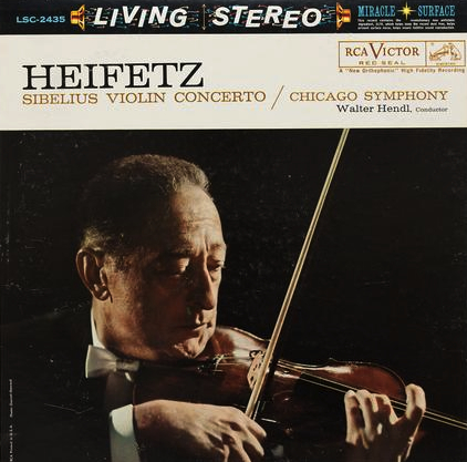 Walter Hendl: Sibelius: Violin Concerto in D Minor/ Jascha Heifetz, violin - Analogue Productions Hy