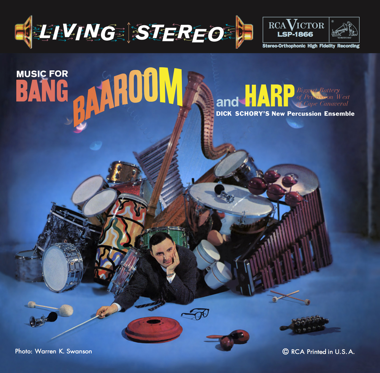 Dick Schory's New Percussion Ensemble: Music for Bang, Baaroom and Harp - Analogue Productions Hybri