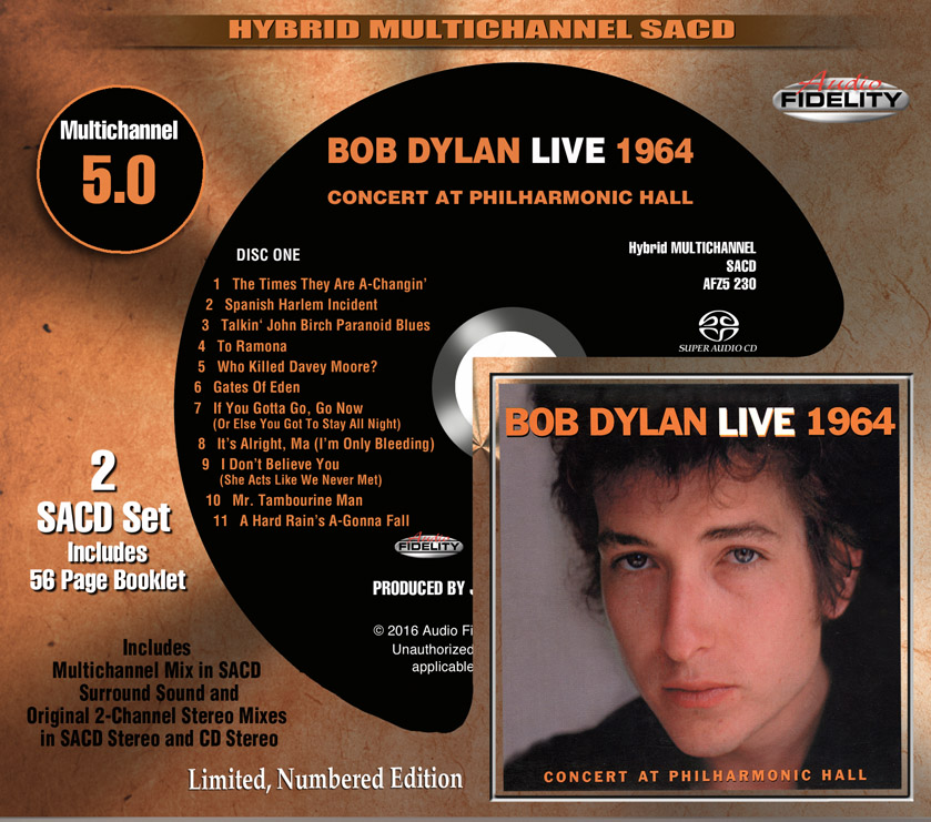 Bob Dylan: Live 1964 - Audio Fidelity Hybrid Multichannel SACD (AFZ5 230)